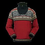 Pravý norský svetr NORWEAR BERGEN červený - poštovné GRÁTIS !