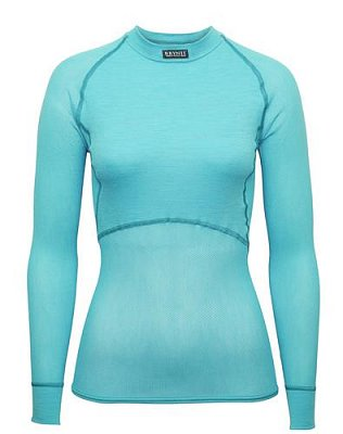Dámské triko BRYNJE CLASSIC WOOL THERMO LIGHT SHIRT aqua M