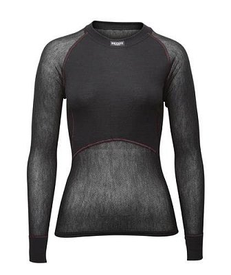 Dámské triko BRYNJE CLASSIC WOOL THERMO LIGHT SHIRT black M