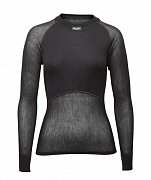 Dámské triko BRYNJE CLASSIC WOOL THERMO LIGHT SHIRT black S