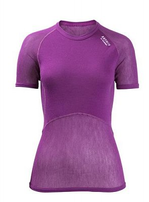 Dámské triko BRYNJE CLASSIC WOOL THERMO LIGHT T-SHIRT violet XS