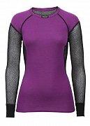 Dámské triko s dlouhým rukávem BRYNJE WOOL THERMO violet