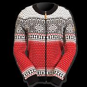 Dámský norský svetr NORWEAR MARTHA červený
