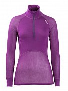 Dámský rolák BRYNJE CLASSIC WOOL THERMO LIGHT ZIP-POLO violet  M
