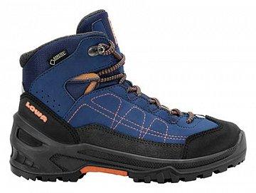 Dětské kotníkové boty LOWA APPROACH GTX MID blue/orange  - 1