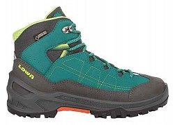 Dětské kotníkové boty LOWA APPROACH GTX MID petrol/lime