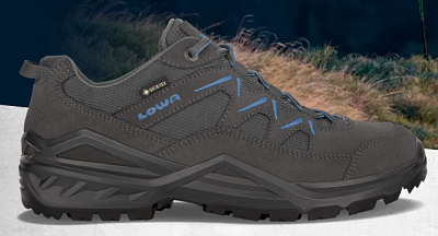 LOWA SIRKOS EVO GTX LO graphite/blue UK 13