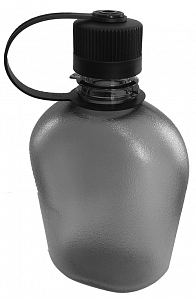 Plochá polní láhev PINGUIN TRITAN FLASK 1L šedá - 1