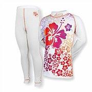Set dětského funkčního prádla SUSPECT ANIMAL BAMBOO HEAVY HAWAII bílý 150