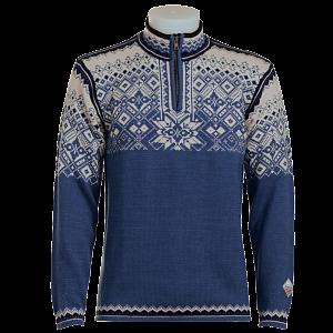 Tradiční norský svetr NORLENDER NARVIK modrý XL - 1