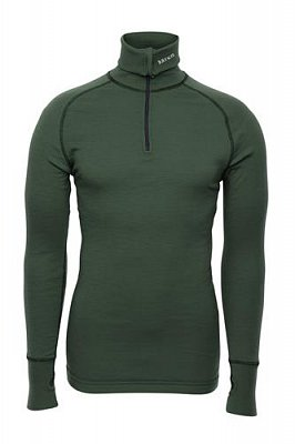 Triko BRYNJE ARCTIC DOUBLE ZIP POLO green  S