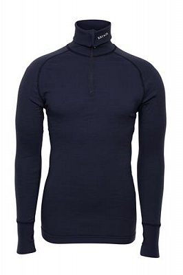 Triko BRYNJE ARCTIC DOUBLE ZIP POLO navy  S