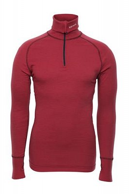 Triko BRYNJE ARCTIC DOUBLE ZIP POLO red  XS