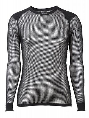 Triko s dlouhým rukávem BRYNJE WOOL THERMO SHIRT W/INLAY black XS